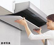 汚れがしみ込まない高品位ホーローを整流板に採用。頑固な汚れもサッと拭くだけ。取外せるので表も裏も丸洗いできます。