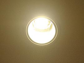 マンション内の共用部の照明には、長寿命、低消費電力で環境にやさしい照明として注目されるLED照明を採用しました。(同仕様)