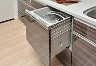 楽な姿勢で食器の出し入れが可能なスライドタイプです。手洗いと比較して、節水効果を期待できます。
