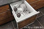 忙しい毎日の家事をサポートするビルトイン食器洗い乾燥機を標準装備。時間や水を節約できるうれしい設備です。