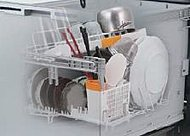 スマートカゴのスリムデザインでもたっぷり洗えるビルトイン型の食洗機です。(参考写真)