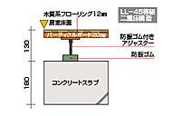 LDや洋室は天井高2,400mmの高さを確保し、広々とした空間になっています。また、下の階に伝わる不快な衝撃音や振動を防ぐために二重床工法を採用。