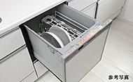 大小の食器や調理器具をスムーズにセットできるビルトインタイプです。