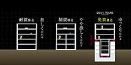 基礎免震および中間階免震併用構造を採用。※EAST棟、WEST棟の低層部およびエントランス棟を除く。