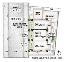 ■1フロア3戸のプライベート性の高い住戸配置。 ■角住戸率約66%の開放的な住戸プラン。