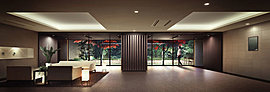 エアーズコートとブリーズコートのそれぞれに設えられたホテルライクで開放感あふれる空間。