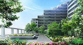 建物の外周や駐車場との緩衝地帯、さらにはウィズパーク(提供公園)にいたるまで四季折々の風情を感じる植栽を設えました。風景として美しく、そして生活をデザインするように整えられた緑の空間。