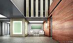 一部二層吹抜のエントランスホールには、心安らぐ「光柱」が設置され、都会の疲れを癒やす印象的な空間を演出しています。