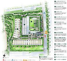 公園隣接の敷地を有効に生かし、明るく開放的な配棟計画を実現。