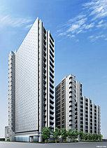 駅前を一新する大規模ランドマークレジデンス。東急田園都市線「駒沢大学」駅徒歩1分に、広大な敷地を確保してつくられる156邸の大規模レジデンス。都心近接の邸宅地として名高い「駒沢大学」駅前の新たなランドマークとなります。