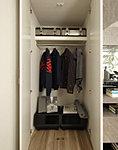 各居室に衣類や衣装ケースなどがすっきり収納できるクロゼットをご用意しました。※一部居室を除く。