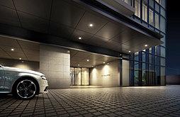 創成川通りに面した車寄せは優雅なカーブを描きつつ、気品あふれるエントランスへと誘います。