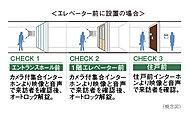 一般のマンションに比べ不審者の侵入対策を強化し、主な来訪者のアプローチ上の2ヶ所にオートロックシステムを採用しました。