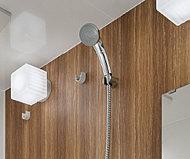 シャワーヘッドに付いたボタンを押すだけで、吐水・止水を繰り返すことができます。また、スプレー式(節水)のシャワーヘッドなので節水効果もあります。