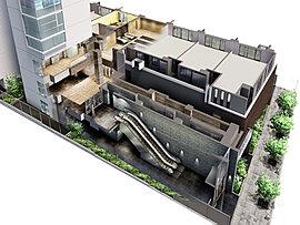 ※2掲載の外観完成予想図は、現地12階相当から北東方面を撮影した周辺写真(平成29年5月撮影)に、計画段階の図面を基に描き起こした建物完成予想図をCG合成・加工したもので、実際とは異なります。眺望等は階数・各住戸により異なり、周辺環境・眺望は将来変わる場合があります。