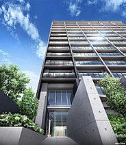 建物は縦ラインと横ラインを強調することで、シャープでありながら、圧迫感を軽減するデザインを創り出しています。