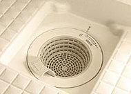 排水時のお湯の流れで、排水口のゴミをまとめてくれます。