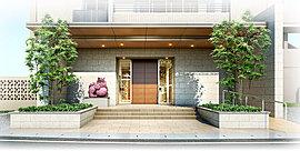 エントランスには琉球石灰岩や涼やかな陰をつくるシンボルツリーをあしらうことで、沖縄らしい気品をスタイリッシュに表現しました。活気にあふれ、懐かしくもやさしさが漂う。そんな那覇三原の都市環境に共感する、新たなデザインレジデンスが誕生します。
