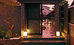 四季のある京都嵯峨にふさわしい緑豊かなランドスケープと時とともに趣や味わいを増すようなデザイン
