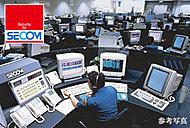 毎日の安全な暮らしを見守る、セコムと連動した24時間体制のセキュリティシステムを導入。緊急時の通報や、センサーが異常を感知した場合には必要に応じて係員が建物へ急行します。
