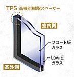 居室の樹脂製内窓には、断熱性の高いLow-E複層ガラスを採用しています。