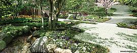 四季折々に表情を変える樹木や花々、小川のせせらぎ、そして緑に囲まれながら語らいのひとときを過ごせるガーデンテラス。敷地内の地下水は、せせらぎやディライトガーデンへの散水にも利用されます。毎日の暮らしを表情豊かに包む憩いの空間です。