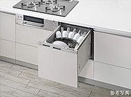 5人分想定(食器点数37点)の収納容量を持ちながら、洗いからすすぎまで約10リットルという節水仕様を実現。