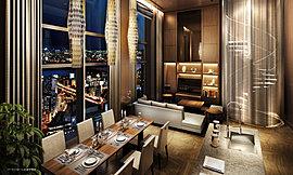 開放感あふれるガラスウォールを設け、優雅なひとときを演出する37階「パーティルーム」