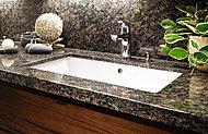 洗面カウンタートップは御影石を採用しました。質感が心地よく、美しく格調高いドレッシングルームを演出します。