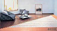 足元から部屋を暖める、ガス温水床暖房。