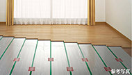 足元から室内を暖める体に優しい暖房システムです。