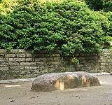 根津神社境内・文豪憩いの石 約120m(徒歩2分)(2016年6月撮影)