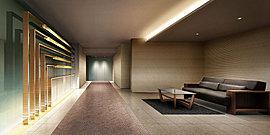 伝統的な建築美が迎える、迎賓空間。邸宅としての品格を醸し出すエントランスホールは、奥行きを感じさせる空間デザインを用いて、優雅な迎賓空間を演出しました。