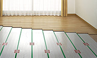 体に優しく、心地よい室温を保つ「TES温水式床暖房」をリビング・ダイニングに設置。理想的な温かさを実現します。※参考写真