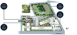公園とともに暮らしの豊かさを創造。桜咲く公園に隣接し、3方道路の独立した敷地。