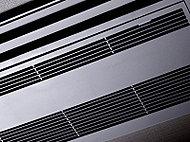 リビングダイニングには室内をすっきりとした印象に保つことができる天井カセット型のエアコンを標準装備。※Aタイプのリビング・ダイニングのみ。