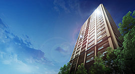 都心タワーにふさわしいシンボリックな外観。風と陽光の恵みを享受する寛ぎの私邸。