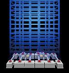 建物構造に応じて上部建物と基礎を切り離し、その間に免震装置を設置して建物に入る地震動を低減する仕組みです。(ポンプ室・バイク置場・機械式駐車除く)※構造概念図