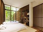 畳敷きの清々しい空間ジャパニーズ&ゲストルーム。畳の清々しい香りが落ち着きを醸し出す、和のゲストルームをご用意しました。