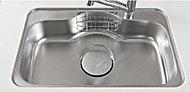 鍋など大きな調理器具も洗いやすいワイドサイズのシンクを採用しています。