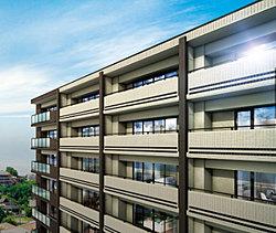 ※掲載の眺望外観完成CGは現地15階相当からの写真(2014年9月撮影)に、図面をもとに描いた外観完成CGを合成したものであり、実際とは若干異なります。