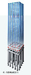 地震のエネルギーを吸収し、建物に伝わる揺れを制御する免震構造。家具なども倒れにくく、怪我などの心配も大幅に軽減されます。※(1)