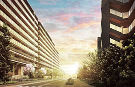 ※向かって左側の建物が二番街・右側の建物が一番街となります。