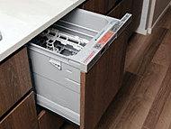 静音と省エネでしっかりと除菌洗浄。ドアの開閉も使いやすいワンタッチ式。