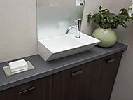 トイレ空間にすっきりと収まる手洗いカウンター。トイレ空間を有効活用し、ゆったりとした手洗いができます。