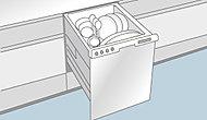 使用水量は手洗いの約1/7以下になり、水道代も削減します。