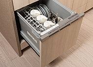 食器の後片付けが簡単に。手洗いの場合よりも節水できます。