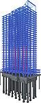建物全体のバランスを考慮して、大成建設独自の制振構造「制振間柱LOYAL」を採用。制振装置を装備して地震の揺れを軽減し、住空間を守ります