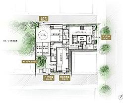 1階敷地配置図イラスト