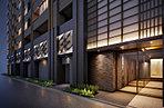 エントランス空間は、江戸の街並みの風情と、ギャラリーが多い現代の日本橋の芸術性を融合させたデザインに。